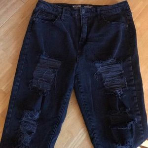 Mossimo Supply Co. Jeans - Mossimo distressed mom jean